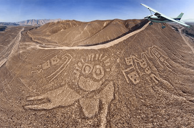 Fly over Nazca + Palpa Lines from Pisco airport