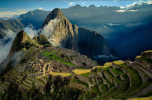 오후 동안 Machu Picchu 표